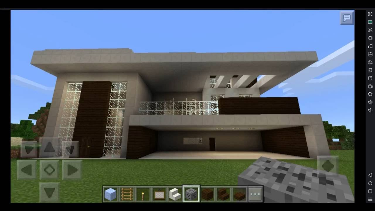 Minecraft 3 fazendo casas modernas da vida real youtube for Casas modernas reales