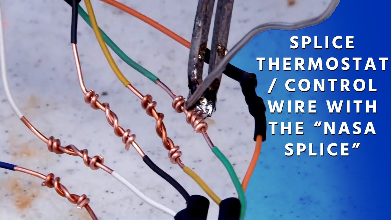 How to Splice Thermostat / Control Wire with the \