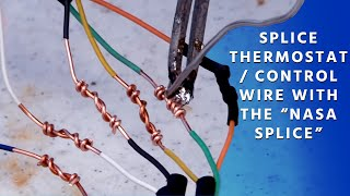 "How to Splice Thermostat / Control Wire with the ""NASA Splice"""