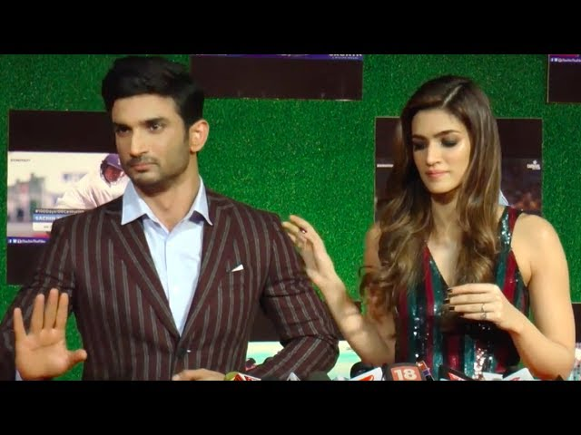 Kriti Sanon STOPS Angry Sushant Singh Rajput from SHOUTING !