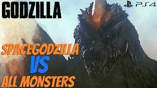 Godzilla The Game (PS4) - SpaceGodzilla Vs. All Monsters [1080p 60fps]