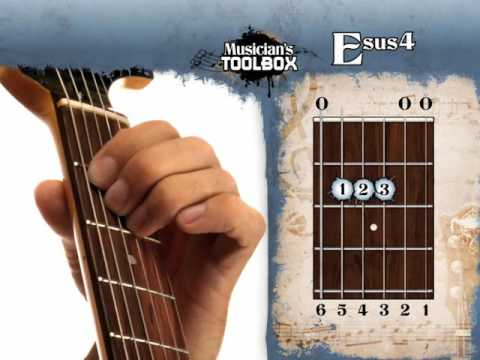 How to play the E sus 4 chord on guitar Esus4 - YouTube