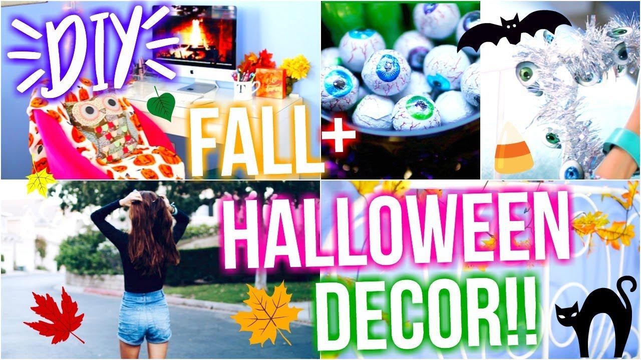 ... Diy Fall Halloween Room Decor 2017 Tatiana Boyd Youtube ...