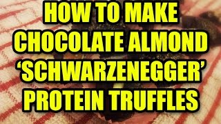 How To Make Chocolate Almond 'schwarzenegger' Protein Truffles - The Quest For Gains #3