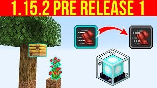Minecraft 1.15.2 Pre-Release 1 Farmable Bee Nests & Generation Changes!