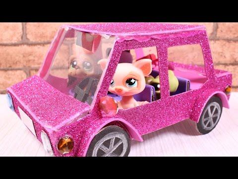 DIY How To Make Doll Car / LPS Car