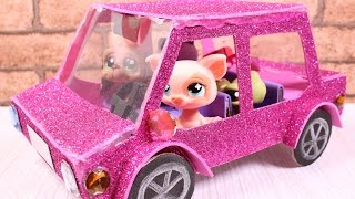 DIY How to make Doll Car / LPS Car