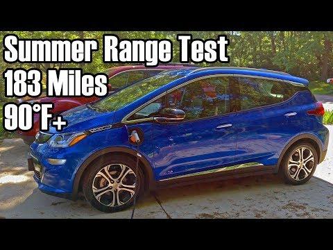 chevy bolt ev summer range test youtube chevy bolt ev summer range test youtube