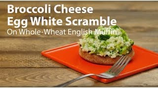 Broccoli and Cheese Egg White Scramble