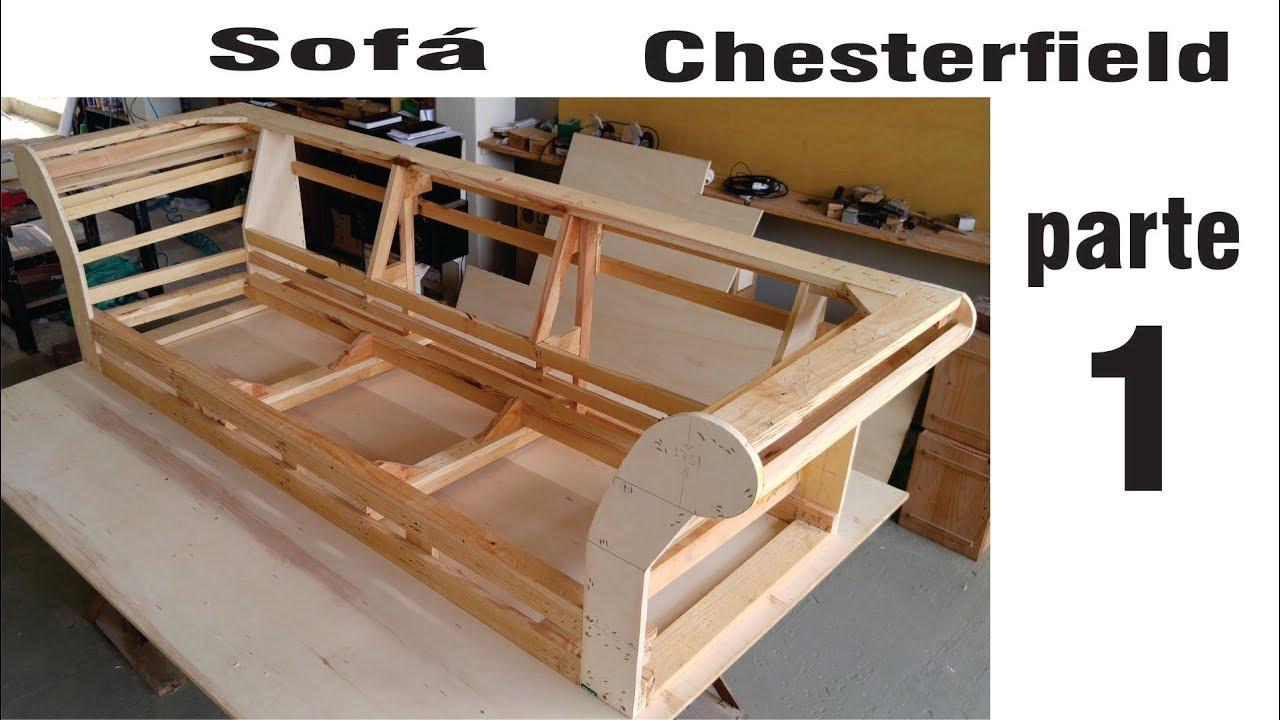 Fabricando um sofá Chesterfield (parte 1) - YouTube