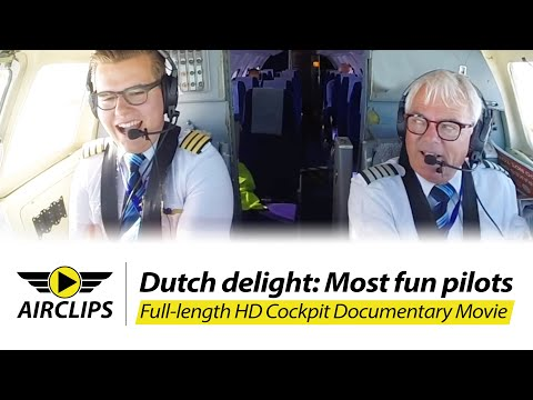 MOST FUN PILOTS!!! Edward's and Bram's Jetstream 32 Ultimate Cockpit Movie: AIS Airlines [AirClips]