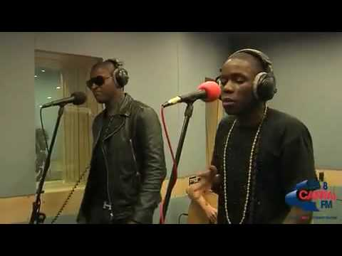 Tinchy Stryder, Taio Cruz and Amelle   I Gotta Feeling   Bonkers Live Lounge Capital FM