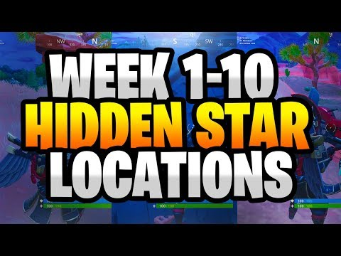 ALL Fortnite Season 6 Secret Battle Star Locations Week 1 To 10 - ALL Season 6 Hidden Stars