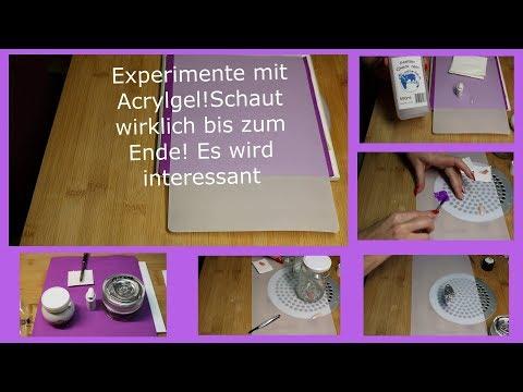 Acrylgel Experimente Dualtip Poppits Aceton Wunschvideo