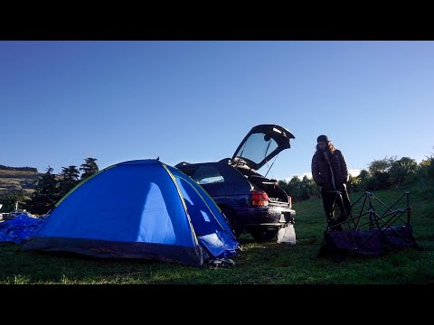Traveling New Zealand - Camping in Dunedin