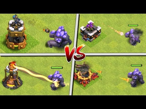 GOLEM LEVEL 7 vs ALL DEFENCES! Clash of Clans Update - October 2017 CoC Update - New Troop Level