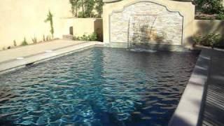 Mini pebbles plaster swimming pool