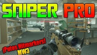 "Modern Warfare 3 | SNIPER PRO - Contra Todos "" Putos Hitmarkers "" | Galgo96ESP"