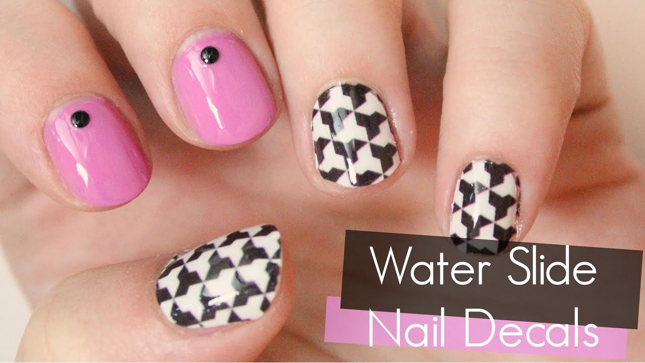 How To Use Water Slide Nail Decals TotallyCoolNails YouTube - How to make waterslide decals at home