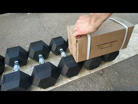 Спорт164.Обзор упаковки гексагональных гантелей