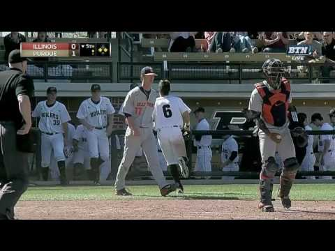 Illinois Baseball Highlights at Purdue 4/23/17
