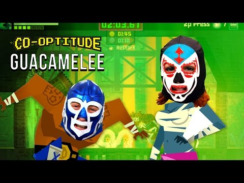 Felicia Day and her brother Ryon put on the masks for GUACAMELEE on Steam in this week