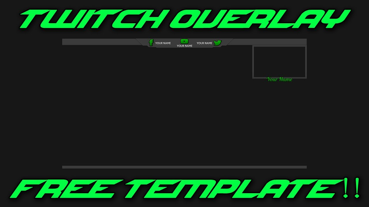 free twitch overlay template clean youtube