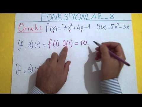 Fonksiyonlar 8 Fonk. İşlemler Ve Permütasyon Fonk. Şenol Hoca Matematik