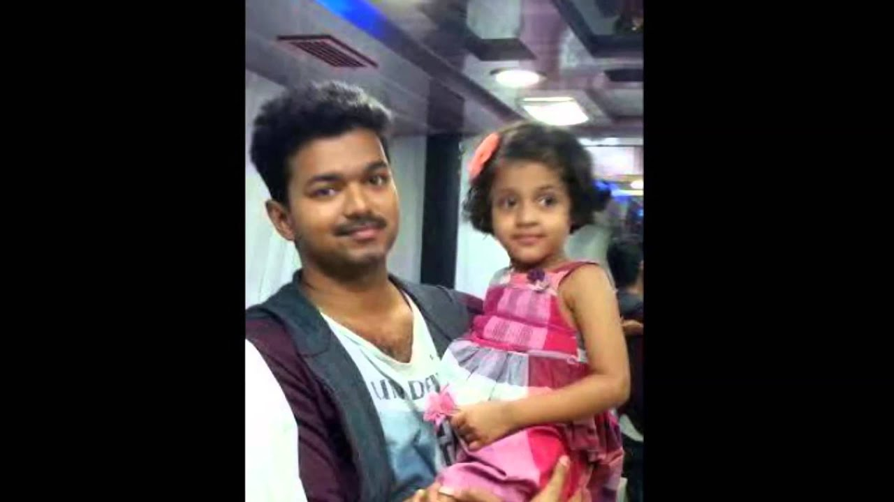 Pictures of Tamil Actor Vijay Son And Daughter Photos