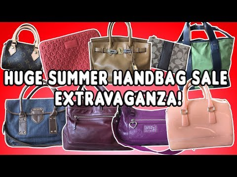 HUGE SUMMER HANDBAG SALE EXTRAVAGANZA