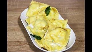 Равиоли с рикоттой и шпинатом. Классический рецепт. Настоящий итальянский рецепт.