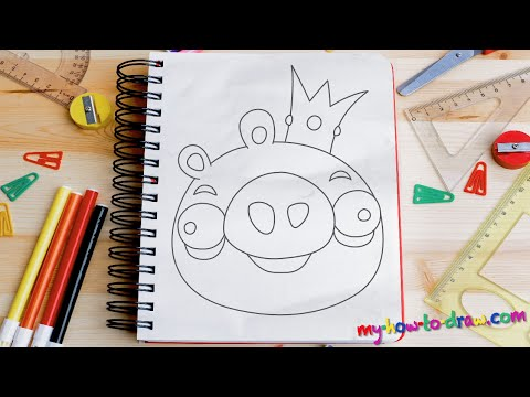 Angry Birds Coloring Minion Piggies and Eggs