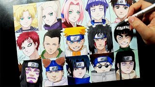 Speed Drawing -  NARUTO TEAMS #NARUTUBRO