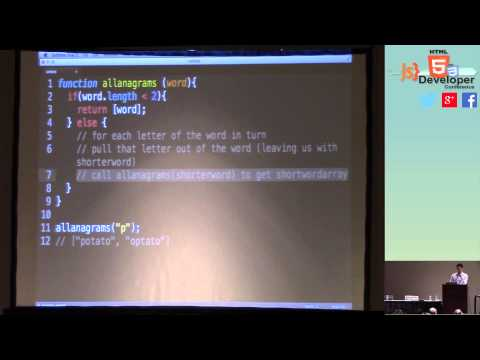 """HTML5DevConf: Shawn Drost """"Technical Challenges from Front-end Interviews"""""""