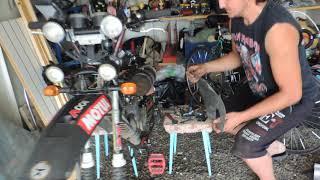 Мото-велосипед ''Monster Energy'' с двигателем Ф - 50. Ремонт и переделка.