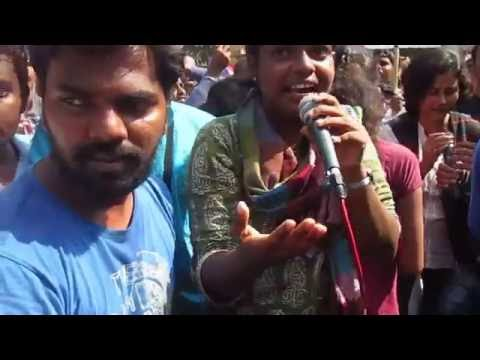 Rohit Vemula Protest Rally Dt.1.2.2016 .