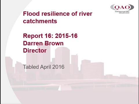 Report 16: 2015-16 Flood resilience of river catchments audio presentation