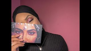 HUDA BEAUTY DESSERT DUSK MAKE-UP LOOK