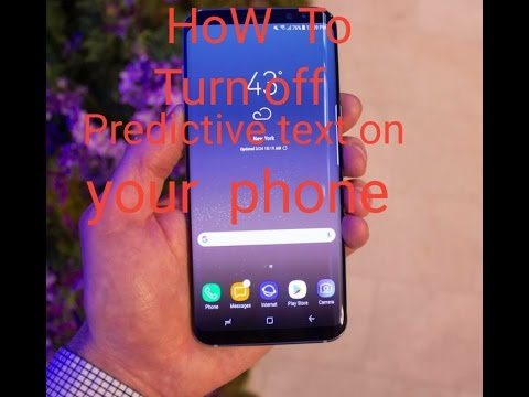 How to Turn Off Predictive Text on Android - Samsung Galaxy S8 Samsung any  models | Hindi/urdu