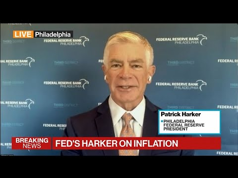 Download Fed's Harker on Inflation Risk, Outlook for Policy