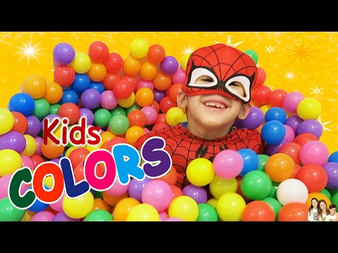 """""""The Ball Pit Show"""" for learning colors -- children's educational video"""