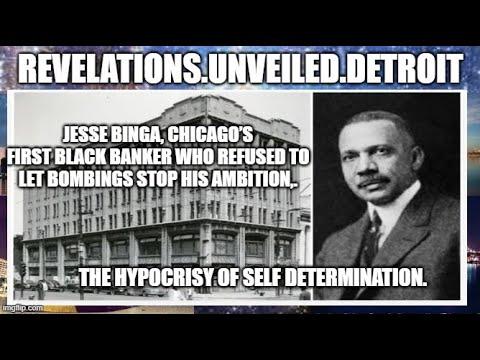 DESTRUCTION of Black WEALTH in AmeriKKKa. The HYPOCRISY of SELF DETERMINATION... Jesse Binga.