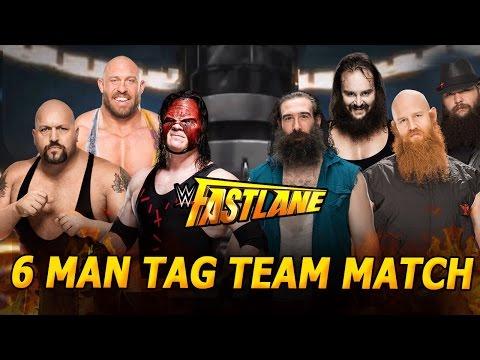 WWE Fastlane 2016 - Demon Kane, Big Show & Ryback vs The Wyatt Family - 6 man Tag Team Match