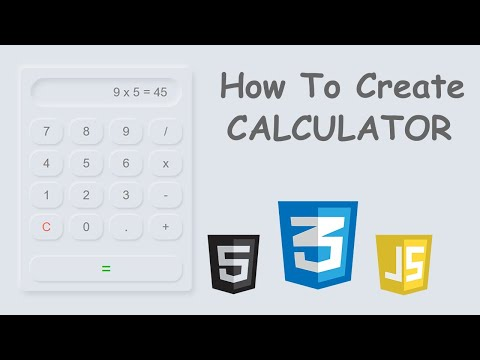 How To Create Neumorphism Style Calculator Using Html Css And Javascript | Am Webtech