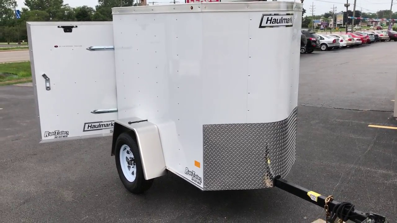 4x6 Enclosed Trailer >> 4x6 Haulmark Passport Enclosed Trailer Youtube