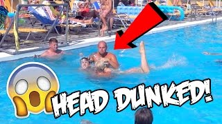 RANDOM MAN HEAD DUNKED ME UNDER WATER!!!