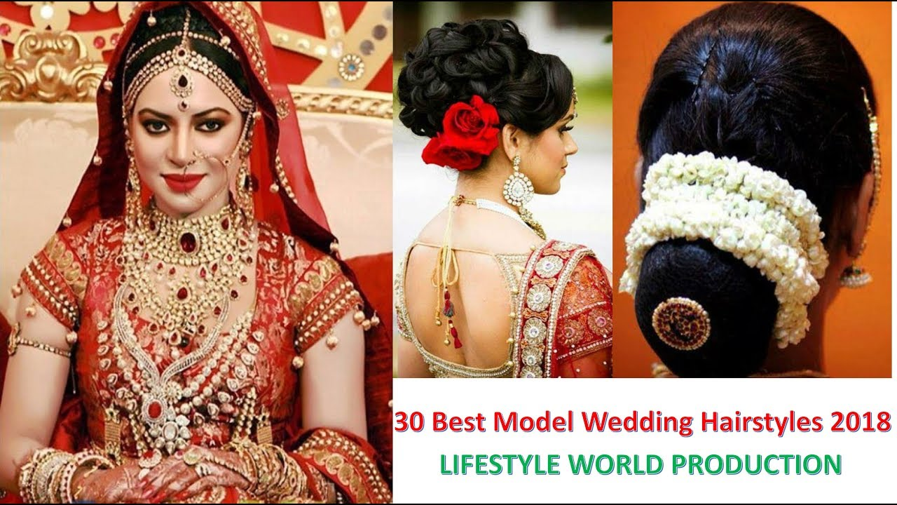 Indian Bridal Hairstyles 30 Best Model Wedding Hairstyles 2018