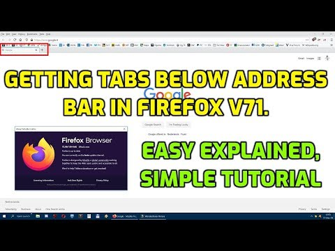 Tabs Below Address Bar In Firefox V71 FIX, Short And Easily Explained