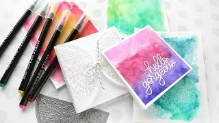 EASY WATERCOLOR BACKGROUNDS with watercolor markers!