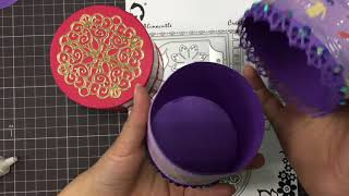 AlinaCutle Tutorial -ROUND GIFT BOX #giftbox #alinacraft #aliexpress